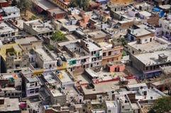 Taken av hus i Jaipur, Indien royaltyfri fotografi
