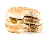 The taken a bite hamburger Royalty Free Stock Images
