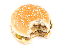 The taken a bite hamburger Royalty Free Stock Image