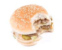 The taken a bite hamburger Stock Photos