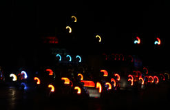 Abstract:  Taillights at night Stock Image