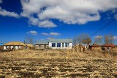 Dwellings of Korea nationality in China 3. Taken at Guaiwan village , Ningan county , NE China Stock Image