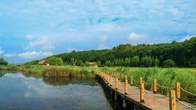 Scenic landscape of Hsing-K`ai hu wetland park 2. Taken at  Hsing-K`ai hu wetland park, Aug 12,2015, Mishan city , Heilongjiang province ,China Stock Image
