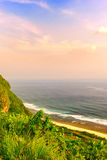 Beautiful skyscape from Bali Uluwatu Stock Image