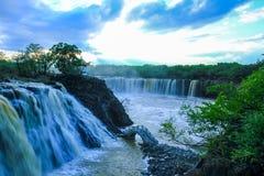 Stunning landscrape of  roaring waterfalls. Taken at Jingpohu diaoshuilou waterfalls in 2017 summer, Heilongjiang province ,China Royalty Free Stock Photos