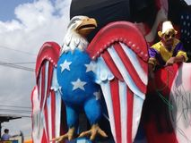 Free as a Bird Mardi Gras Float royalty free stock images