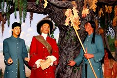 The Founding of Louisiana waxwork tableau is royalty free stock image