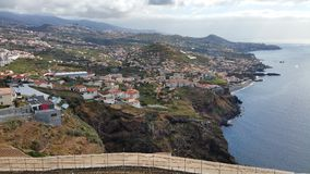 View along the Southern Coast of Madeira stock images