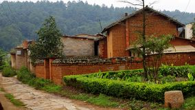 Rural house in Southwest China. Taken in the rural, southwestern China structure simple, but clean, neat, water, electricity, telephone, Internet Stock Images