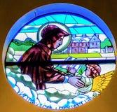 Stained Glass image of St Elizabeth Seton stock image