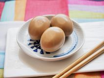 Korean food Soy Sauce Braised egg, Jang-jorim. Taken in studio Korean food Soy Sauce Braised egg, Jang-jorim stock photography