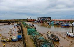 Lobster Pots Lane, in Bridlington Harbour 2, East Yorkshire, April 2019. royalty free stock photos