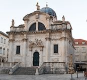 St Blaise Church, Old Town, Dubrovnik. royalty free stock photos
