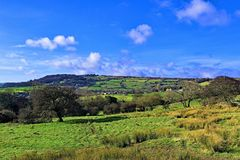 Open countryside, in Robin Hood`s Bay, North Yorkshire. royalty free stock photography