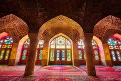 Nasir-ol-molk Mosque in Shiraz Iran taken in January 2019 taken in hdr. Taken in UK in January 2019 taken in hdr stock images