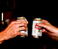 Beer Can toast for birthday celebration