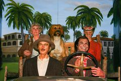 Waxwork tableau of the Beverly Hillbillies royalty free stock images