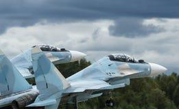 Takeof d'avions de chasse Photos libres de droits