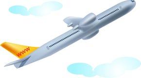 Takeoff. Beautiful isolated  illustration of flight takeoff Stock Image