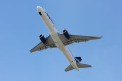 Takeoff of Boeing-757. Aircraft from Yakutia, Sochi, Russia, August 24, 2011 royalty free stock images