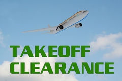Takeoff Clearance - control concept Stock Image