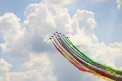 Takeoff flight team Italy Stock Photo