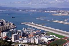 Takeoff at the Gibraltar airport Stock Photos