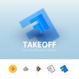 Takeoff icon in different style royalty free illustration