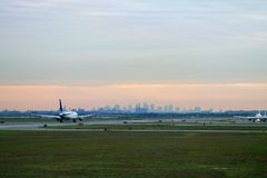 Takeoff at JFK. Takeoff at new york, JFK airport royalty free stock images
