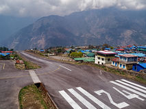 Takeoff at Lukla Airport Stock Images