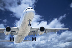 Takeoff plane in airport Stock Photography