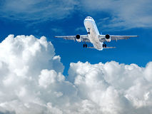 Takeoff plane in airport Stock Images