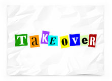 Takeover Hostile Unwelcome Uninvited Siege Ransom Note. 3d Illustration Royalty Free Stock Photo