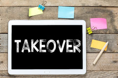 Takeover On Tablet computer Royalty Free Stock Photos
