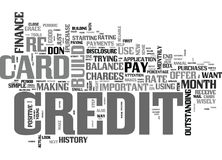 It Takes Credit To Build Credit Word Cloud Concept Stock Images