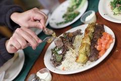takes för kebabmanstycke Royaltyfri Foto