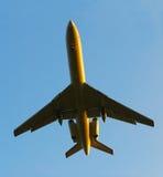 Takes off aero plane Royalty Free Stock Images