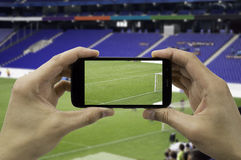 Takes a picture the football stadium Royalty Free Stock Photos