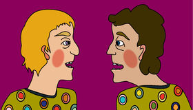 It takes two fools to make an argument Royalty Free Stock Photo