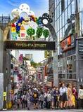 Takeshita Dori in Tokyo. Takeshita Dori, famous shopping street in Harajuku, Tokyo Royalty Free Stock Image