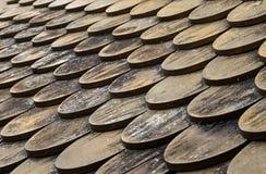 Taket är wood Arkivbild
