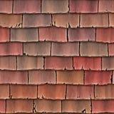 taket överlappar tegelplattor Arkivfoto