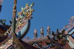 Taket av den gamla kinesiska templet Royaltyfri Fotografi
