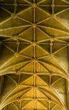 Taket av den Malmesbury abbotskloster, Wiltshire Arkivbilder