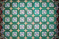 Taket av en kinesisk tempel Royaltyfria Bilder