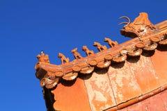 Taket av forntida kinesisk arkitektur Fotografering för Bildbyråer