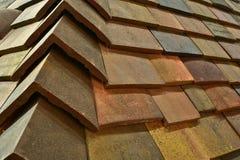 Taket av mång--färgade cementtegelplattor Royaltyfria Foton