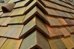 Taket av mång--färgade cementtegelplattor Fotografering för Bildbyråer