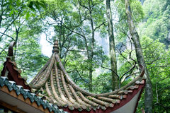 Taket av souvenir shoppar i Zhangjiajie naturligt landskap i Kina Arkivfoton