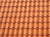 taket belade med tegel Arkivfoton